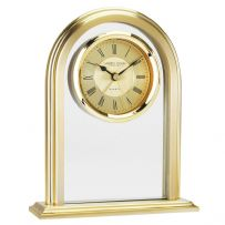 London Clock Company 03063 Glass Arch Top Mantle Alarm Clock